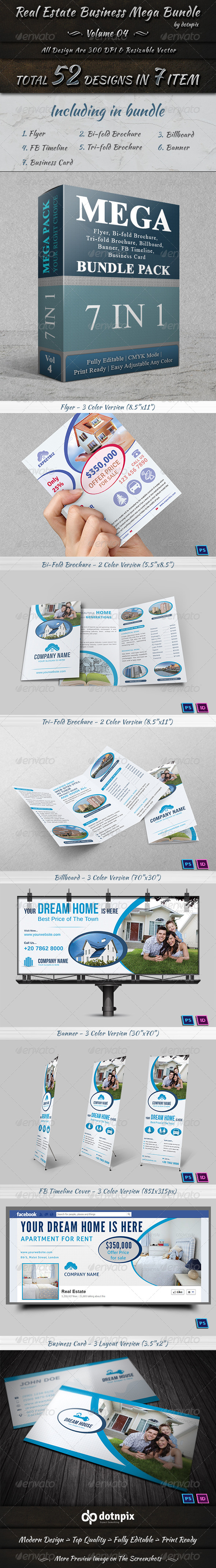 GraphicRiver Real Estate Business Mega Bundle Volume 4 7440982