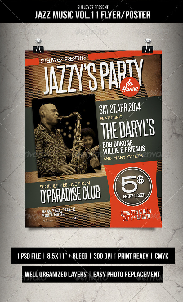 GraphicRiver Jazz Music Flyer Poster Vol.11 7441323