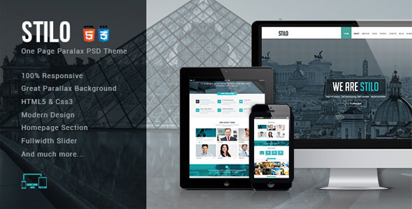 ThemeForest Stilo One Page HTML5 Template 7414968