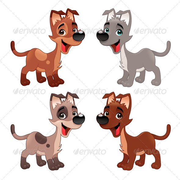 GraphicRiver Set of Dogs 7441510