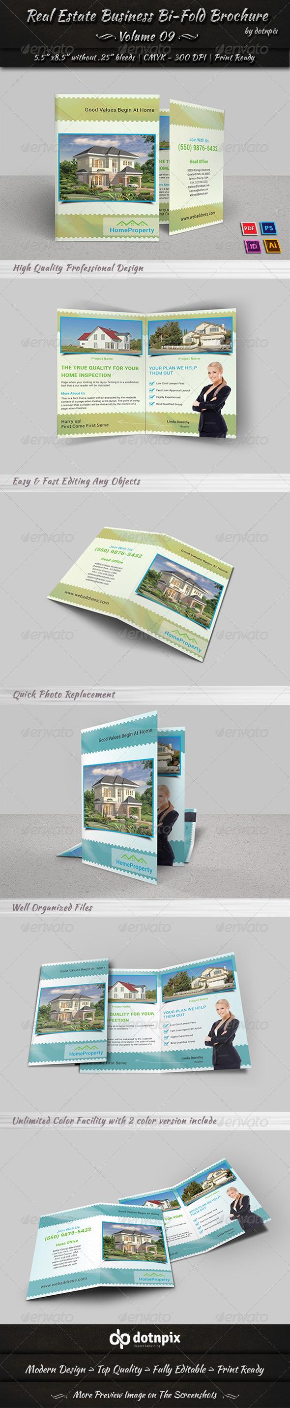GraphicRiver Real Estate Business Bi-Fold Brochure Volume 9 7397361