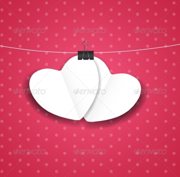 GraphicRiver Valentines Day Paper Heart Background 7441606