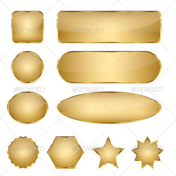 GraphicRiver Blank Elegant Golden Vector Web Buttons 4565336