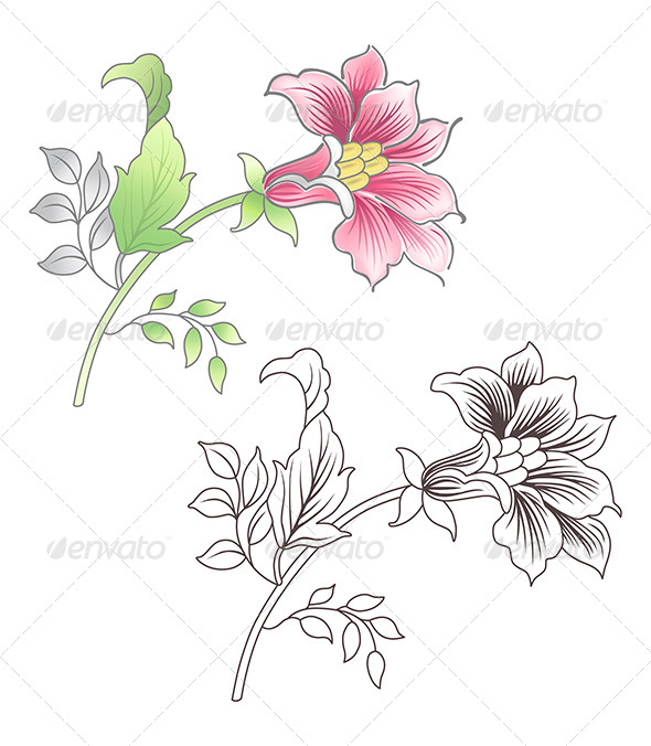 GraphicRiver Flower Elements 7441860