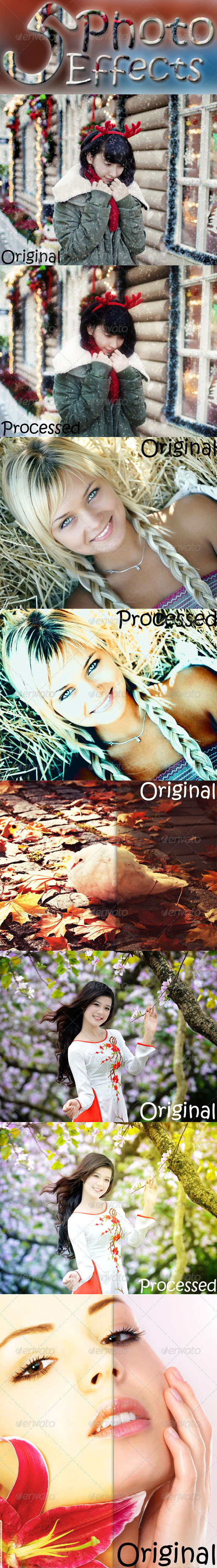 GraphicRiver 5 Photo Effects 7441929