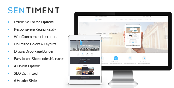 ThemeForest Sentiment Retina Responsive Multi-Purpose Theme 7109279