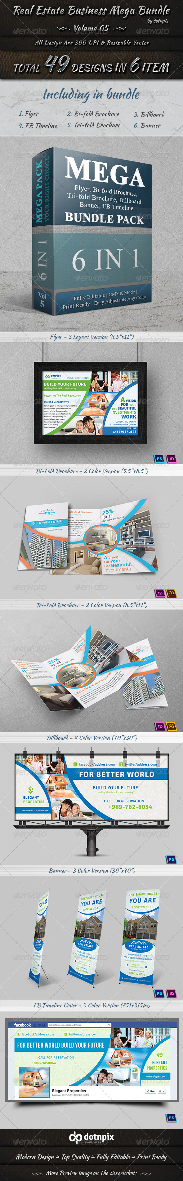 GraphicRiver Real Estate Business Mega Bundle Volume 5 7442329