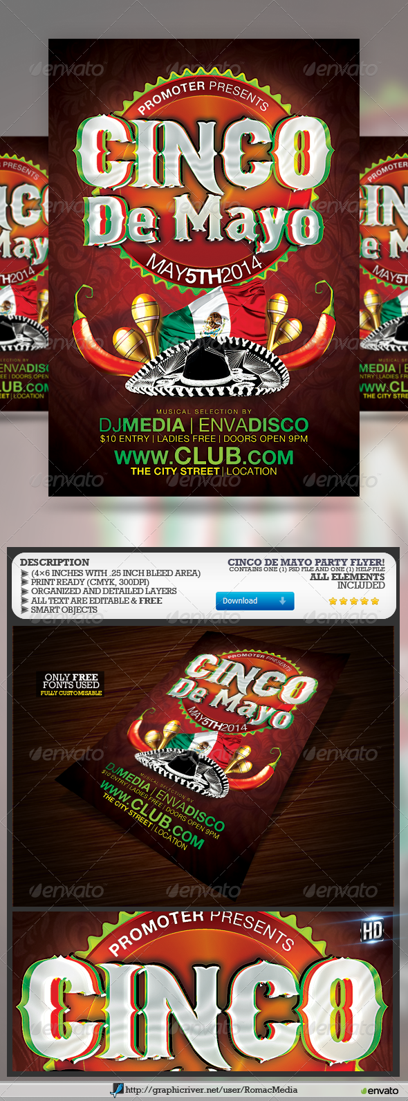 GraphicRiver Cinco De Mayo Party 7442663