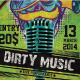 DIRTY MUSIC - GraphicRiver Item for Sale