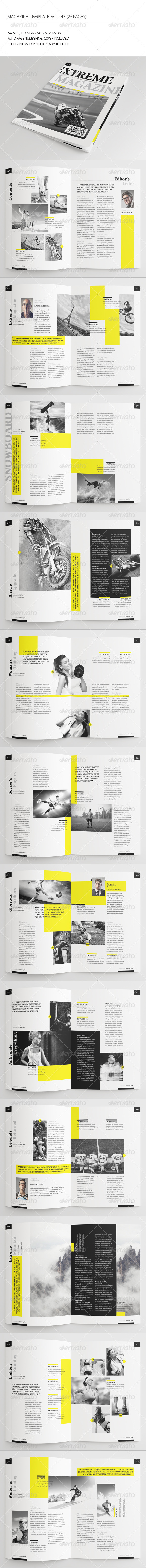 GraphicRiver 25 Pages Sport Magazine Vol43 7443325