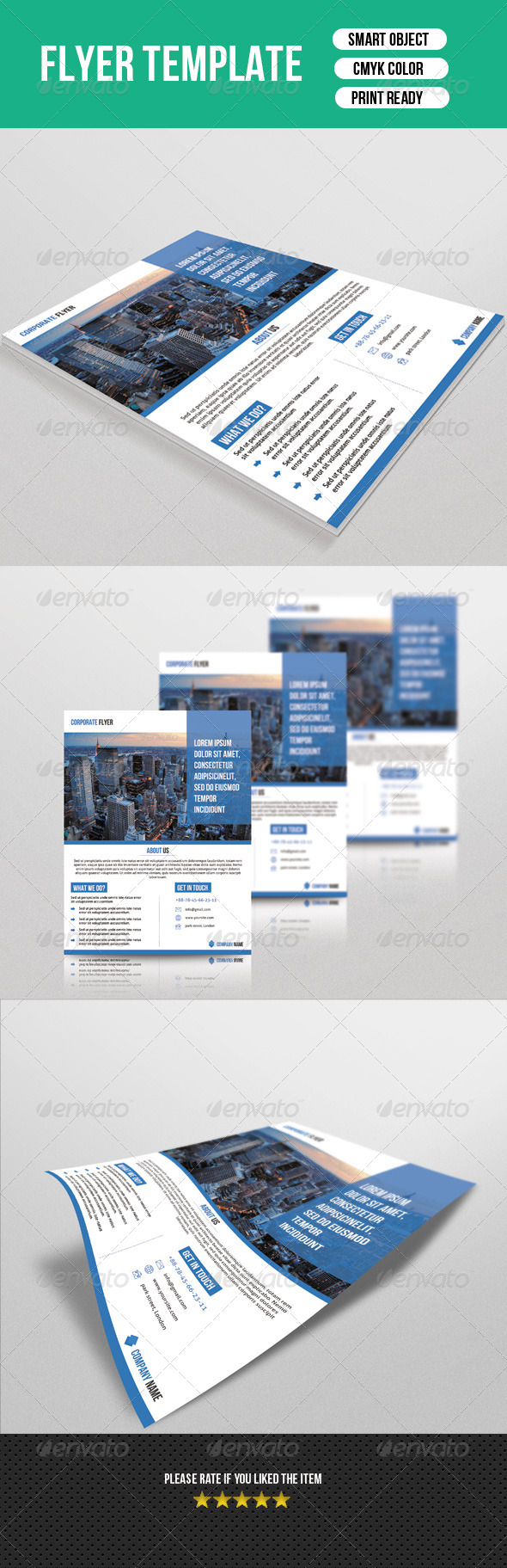 GraphicRiver Corporate Flyer Template 7444062