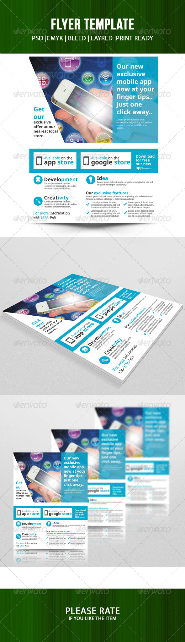 GraphicRiver Mobile app store flyer 7444528