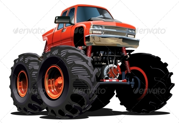 GraphicRiver Cartoon Monster Truck 7445332