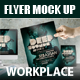 Flyer Mock Up Workplace - GraphicRiver Item for Sale