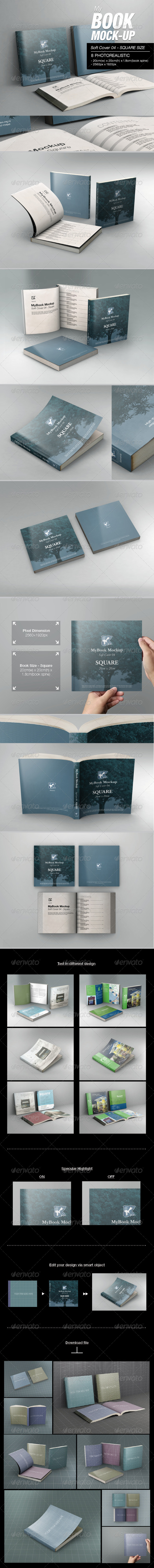 GraphicRiver MyBook Mock-up Soft Cover 04 7445894