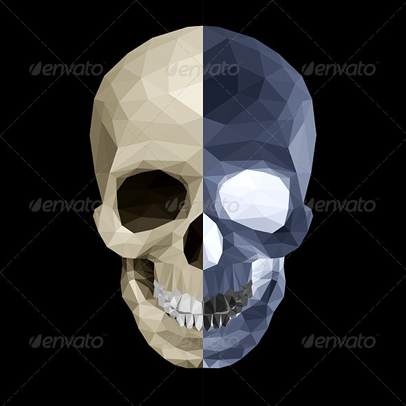 GraphicRiver Crystal Skull in Two Colors 7446257