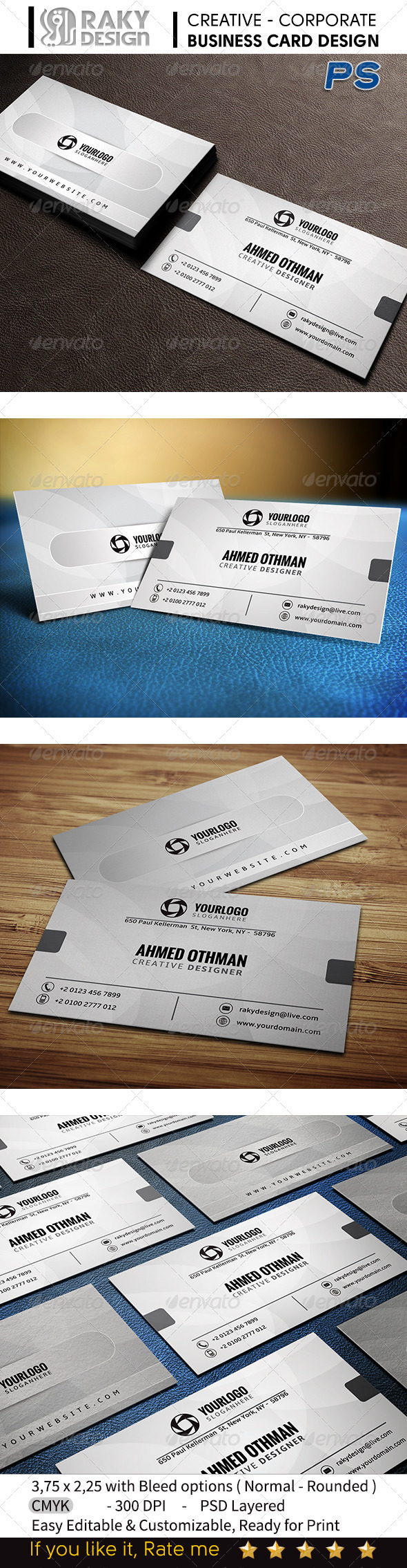 GraphicRiver Creative Corporate Business Card V09 7446602