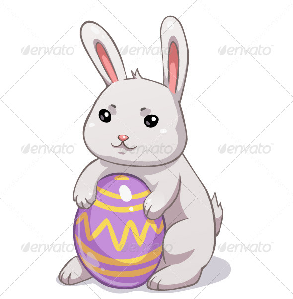 GraphicRiver Easter Bunny Holding Egg 7447031