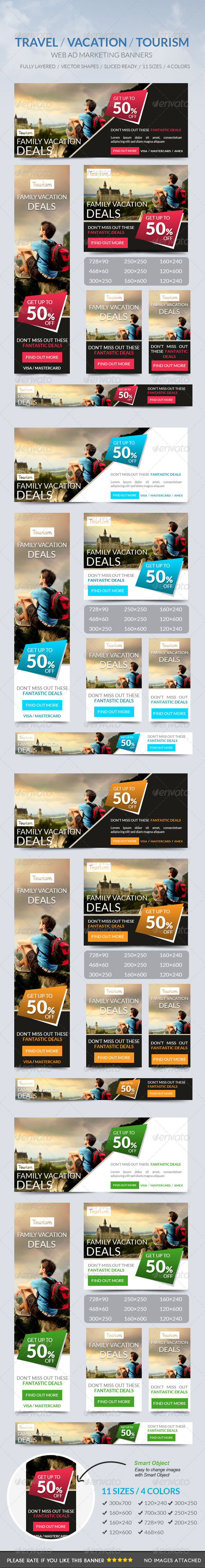 GraphicRiver Travel Vacation Tourism Banner 7447186