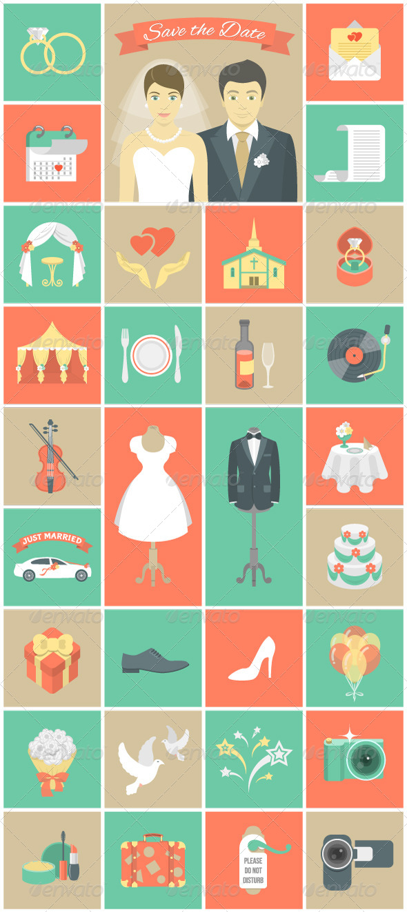 Wedding Icons - Miscellaneous Icons
