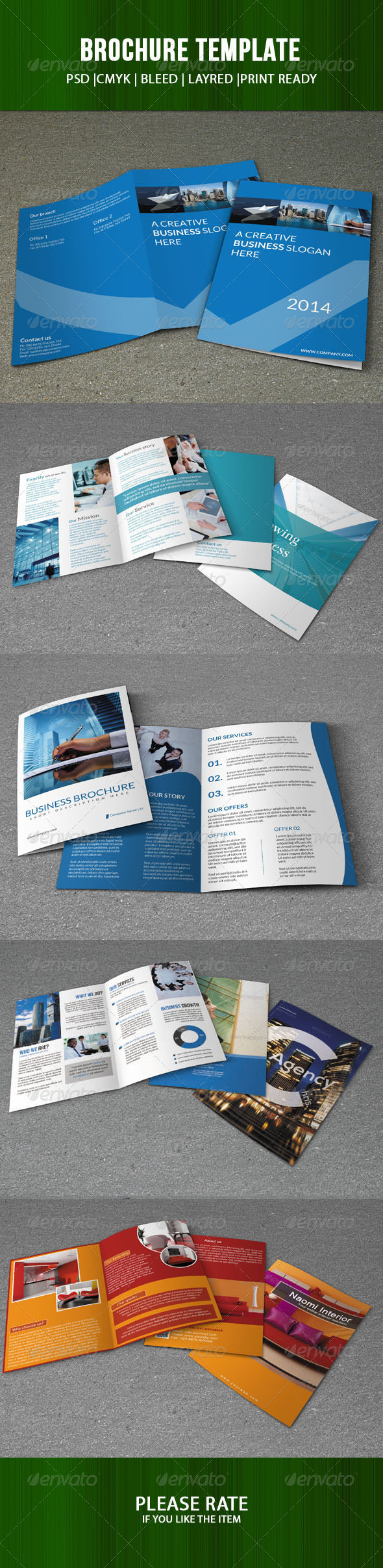 GraphicRiver Bifold Brochure Bundle 7384045