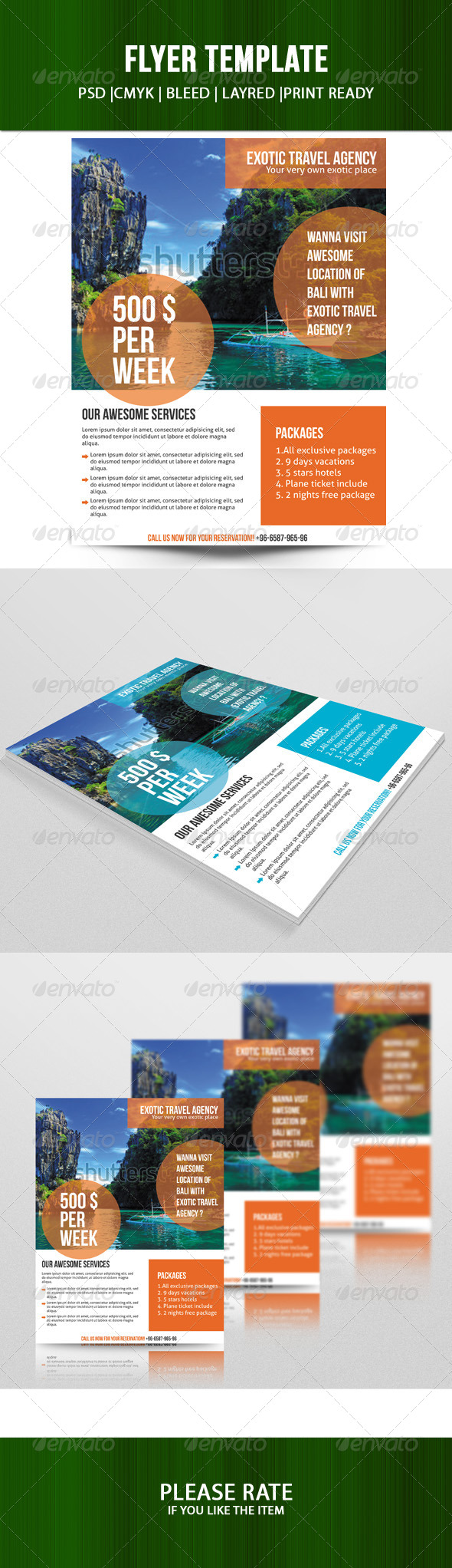 GraphicRiver Travel Agency Flyer 7447238