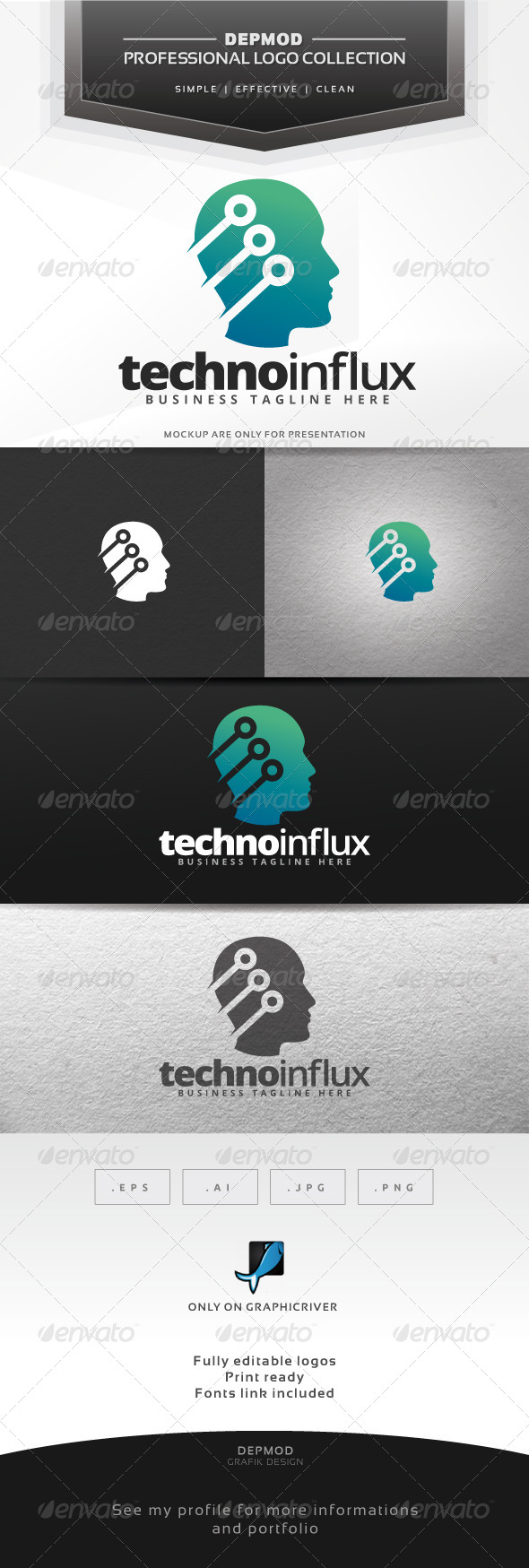 GraphicRiver Techno Influx Logo 7447245