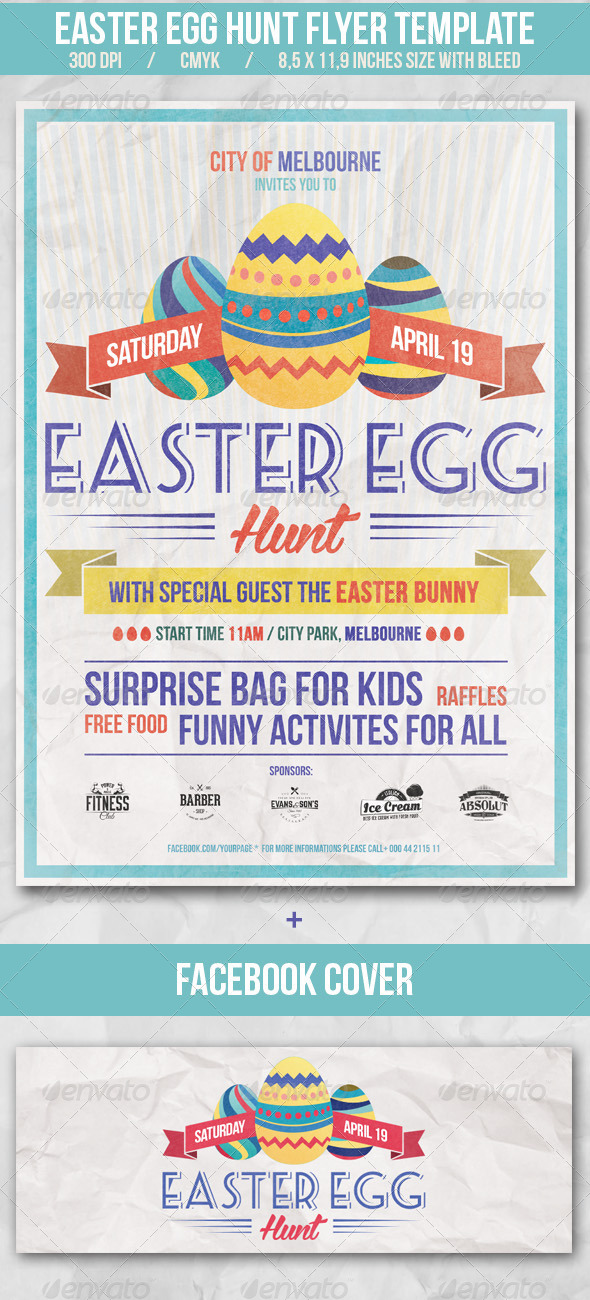 GraphicRiver Easter Egg Hunt Flyer Template 7447246