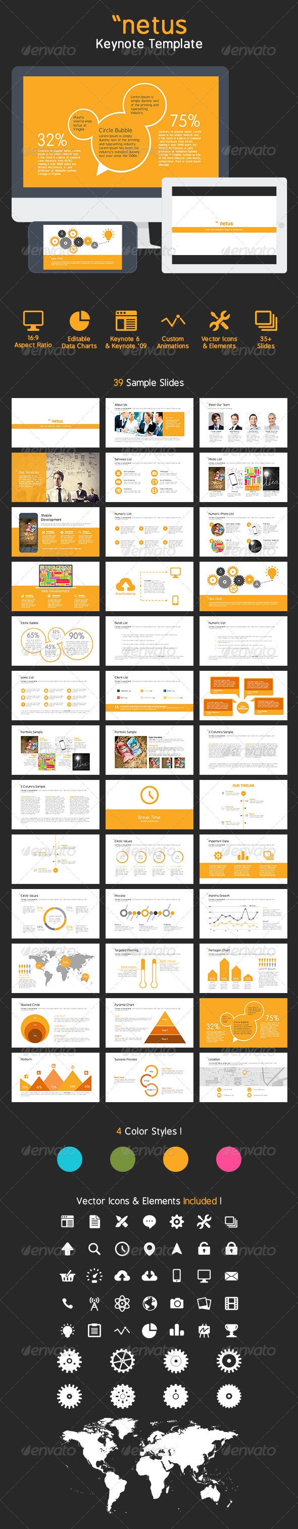 GraphicRiver netus Keynote Presentation Template 7447459