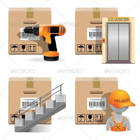 GraphicRiver Shipment Icons Set 30 7447473