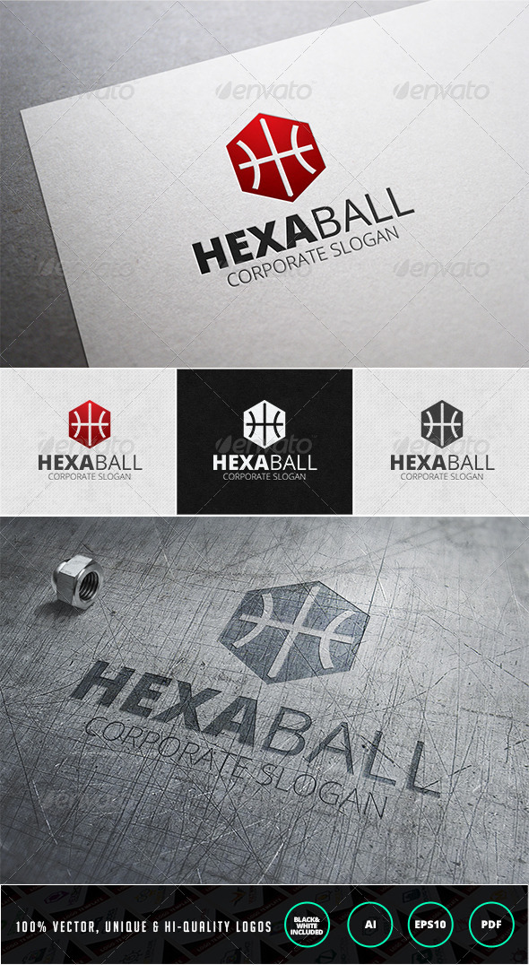 Hexa Ball Logo Template - Objects Logo Templates