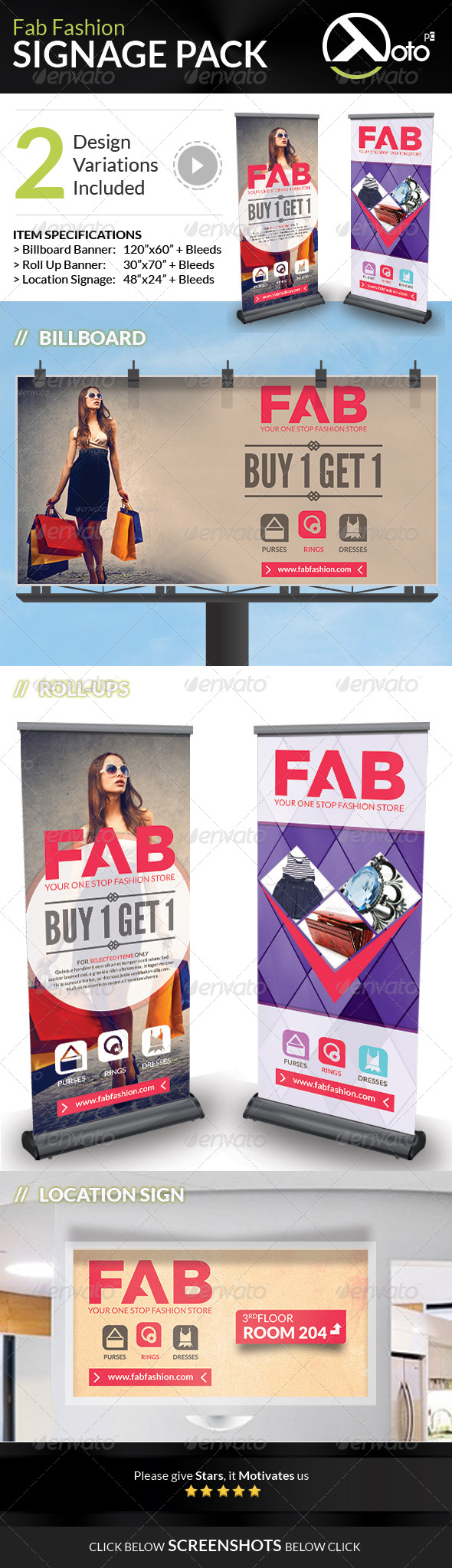 GraphicRiver Fab Fashion Sale Signage Pack 7447521