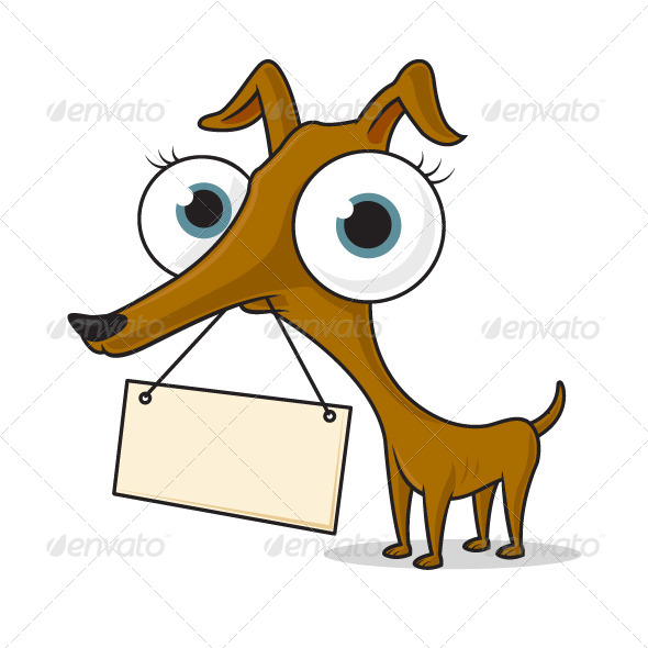GraphicRiver Dog with Sign 7447590