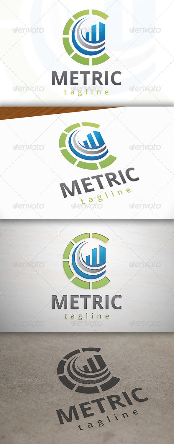 GraphicRiver Metrics Power Logo 7447773