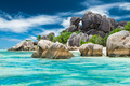 Anse Sous d'Argent beach with granite boulders - PhotoDune Item for Sale