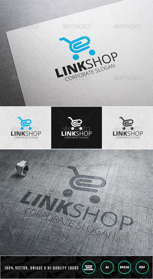 GraphicRiver Link Shop Logo Template 7447846