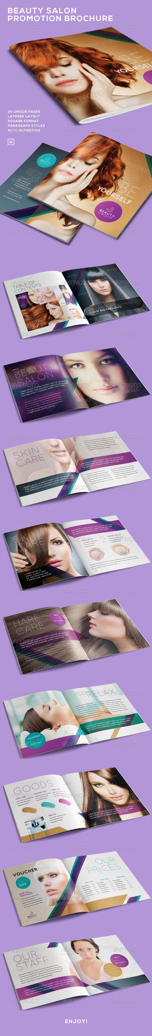 GraphicRiver Beauty Salon Promotion Brochure 7448350