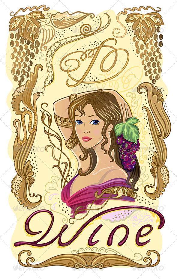 GraphicRiver Decorated Wine Label 7448383
