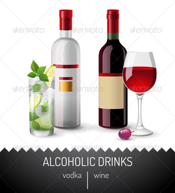 GraphicRiver Alcoholic Drinks 7448451