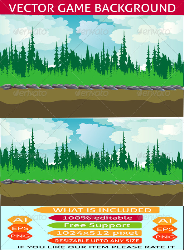 GraphicRiver Jungle Game Background 7448647