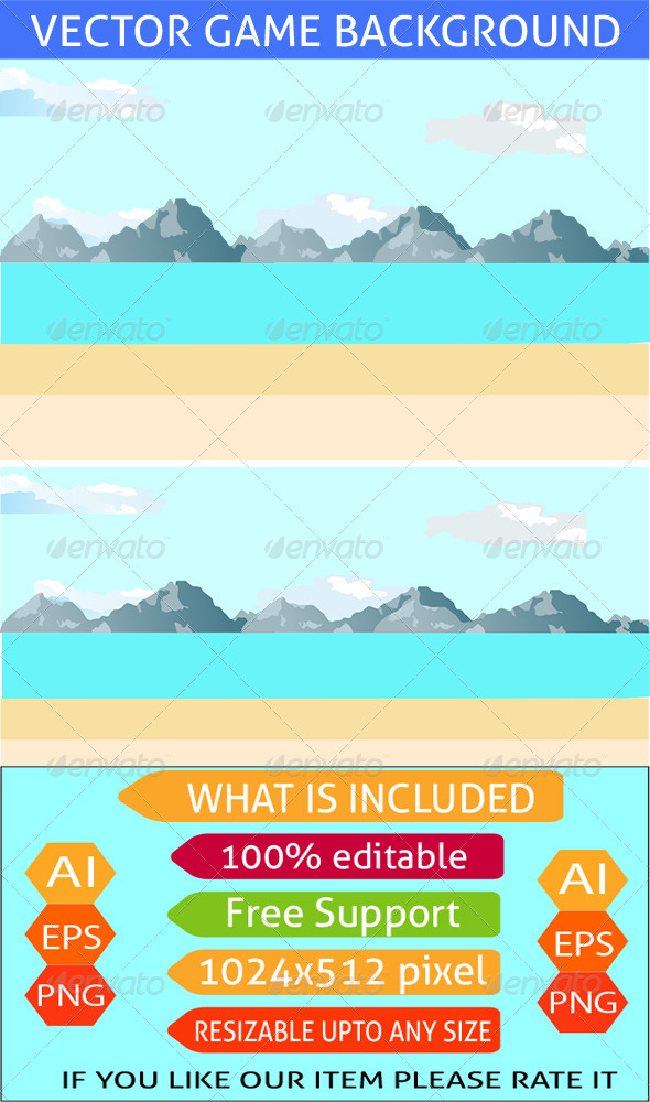 GraphicRiver Beach Game Background 7448651