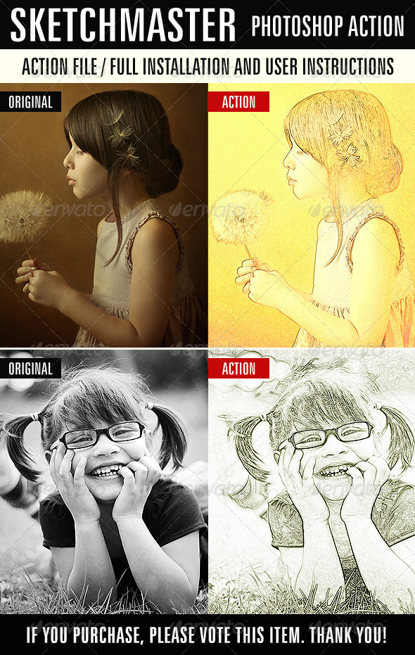 GraphicRiver Sketchmaster Photoshop Action 7431666