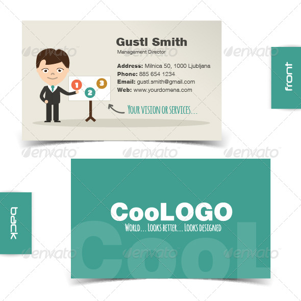 GraphicRiver Flat Character Business Card 7423858