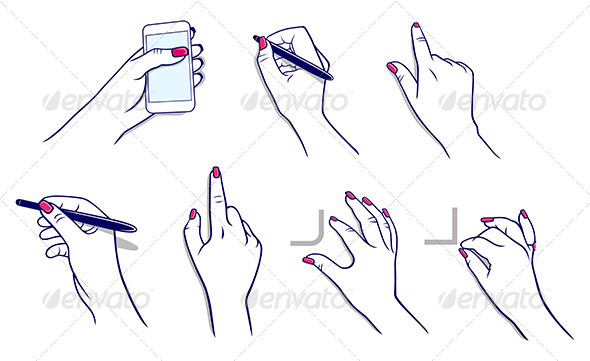 GraphicRiver Hands Using Technology and Stylus 7448916
