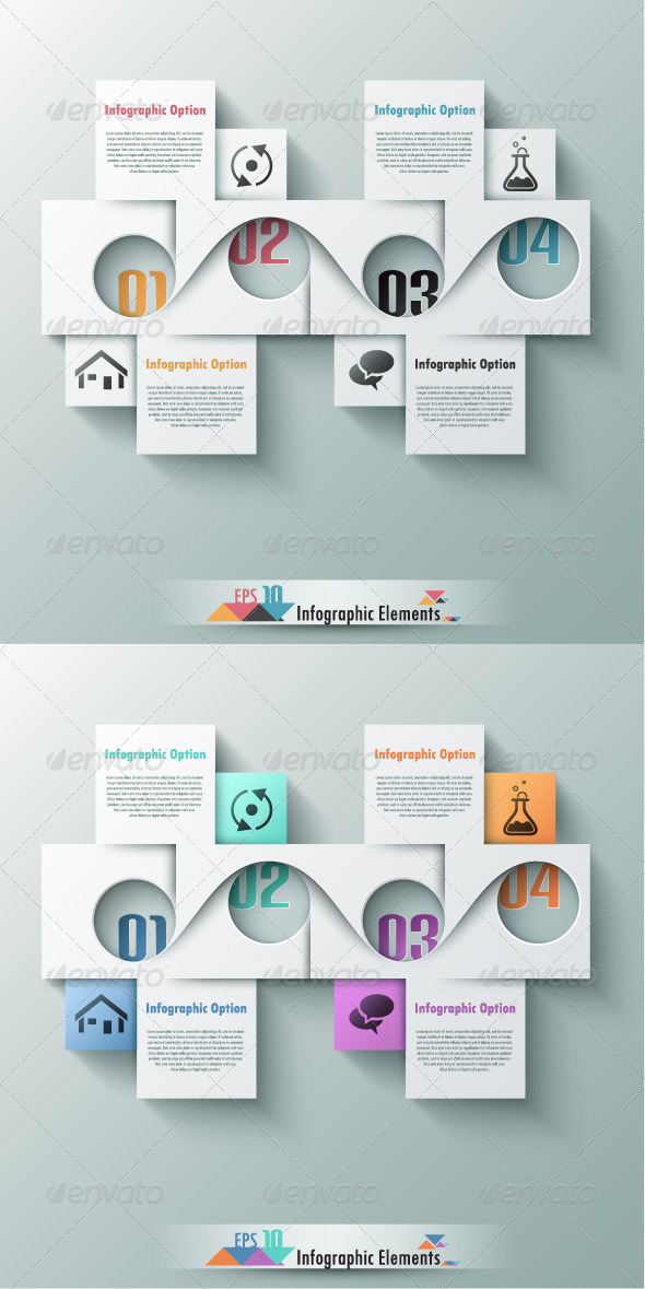Modern Infographic Options Banner Two Versions