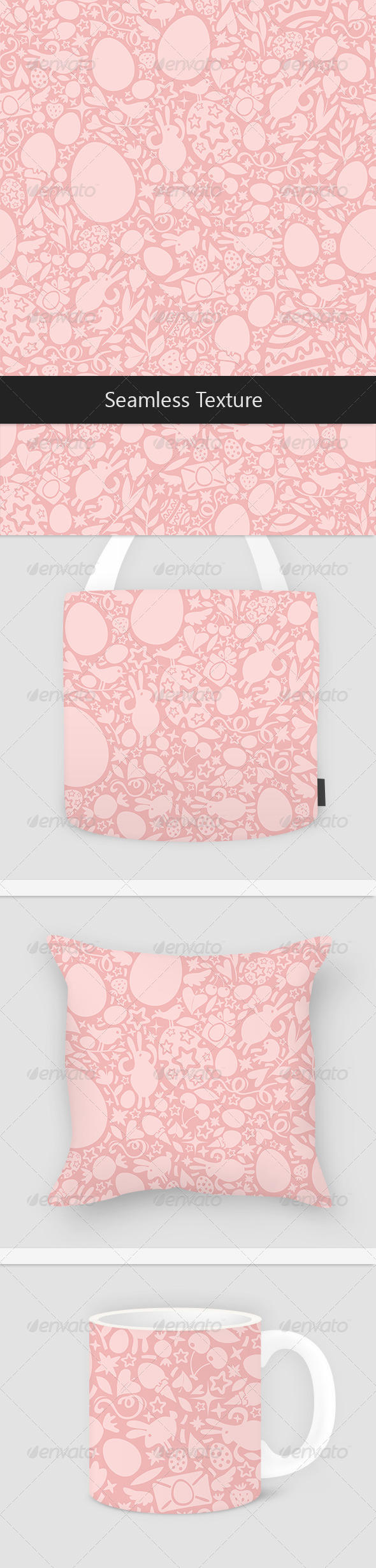 GraphicRiver Easter Seamless Pattern in Pink Colors 7407882