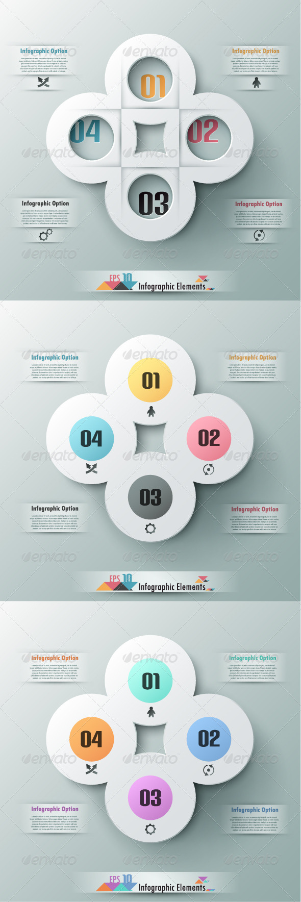 GraphicRiver Modern Infographic Options Banner Three Versions 7449567