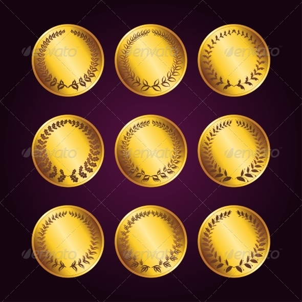 GraphicRiver Set of Luxury Gold Labels 7449570