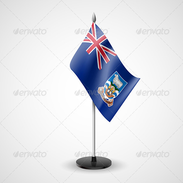 GraphicRiver Table Flag of Falkland Islands 7449586