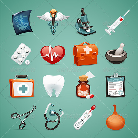 GraphicRiver Medical Icons Set 1.1 7414489